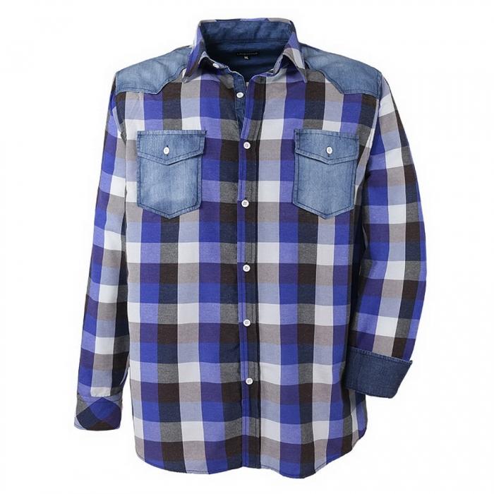 herren langarm hemd lavecchia bergr e jeans patches 3xl. Black Bedroom Furniture Sets. Home Design Ideas