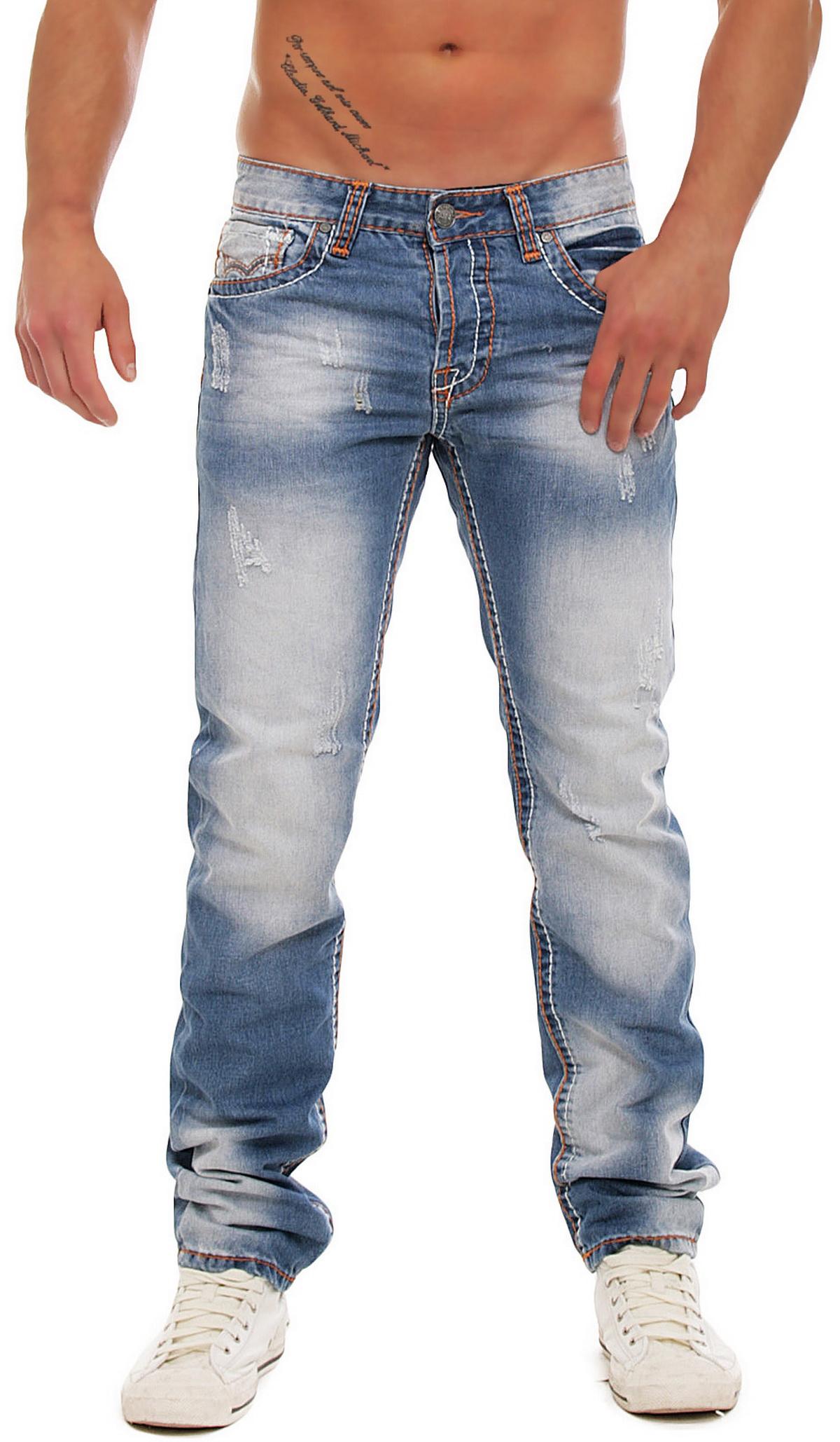 jeansnet herren jeans hose dicke naht slim fit jn 6005. Black Bedroom Furniture Sets. Home Design Ideas